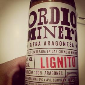 Ordio Minero, cerveza artesana aragonesa. Se fabrica en Blesa (Teruel)